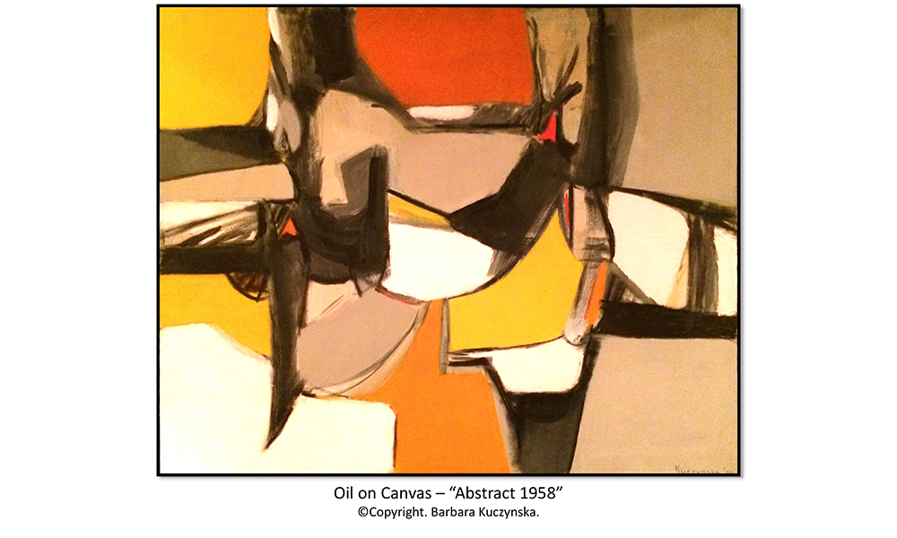 "Oil On Canvas – ""Abstract 1958"""
